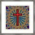 Ornamental Cross Framed Print