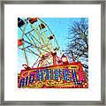 Portable Ferris Wheel Victorian Winter Fair Framed Print