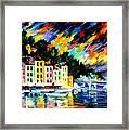 Portofino Harbor - Italy Framed Print