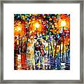 Rainy Evening Framed Print