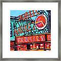 Seattle Public Market Framed Print