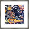 Small Rocks On The Beach Framed Print