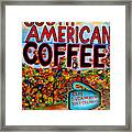 South American Coffee Framed Print