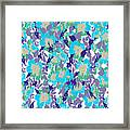 Spring Summer Flowers In Vintage Style. Seasons Floral Pattern Framed Print