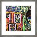 Talavera Owl Tree House Framed Print
