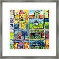 The Little Houses Framed Print