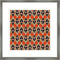 Triangles Pattern Framed Print