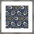 Turkish Textile Pattern Framed Print