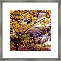 Waterfalls And Fall Colors Framed Print