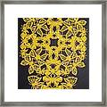 Yellow Butterfly-cross Framed Print