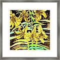 Yellow Lilies, Hand Drawn Painting Framed Print