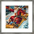 American Christmas Card Framed Print