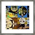Abstract Painting - Zinnwaldite Brown Framed Print