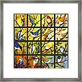16 Birds Framed Print