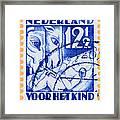 Old Dutch Postage Stamp Framed Print