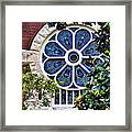 1901 Antique Uab Gothic Stained Glass Window Framed Print by Kathy Clark