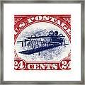 1918 Inverted Jenny Stamp Framed Print