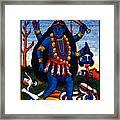 1920 Hindu Goddess Kali Framed Print