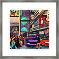 1984 Vision Of Times Square 2015 Framed Print