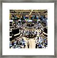 An High Angle View Of The New York Framed Print