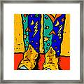 Boots On Yellow Framed Print