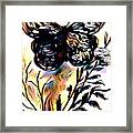 Butterfly Sketch Framed Print