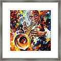 Louis Armstrong . Framed Print