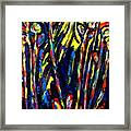 Moon Flowers Abstract Framed Print
