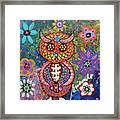 Owl Day Of The Dead Framed Print
