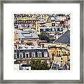 Paris Rooftops Framed Print by Elena Elisseeva