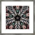 Quilted Starflower Framed Print