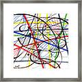 2007 Abstract Drawing 7 Framed Print