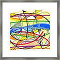 2010 Abstract Drawing Sixteen Framed Print