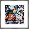 2016 Boston Marathon Winner 2 Framed Print