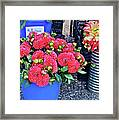 2016 Monona Farmer's Market Blue Bucket Of Dahlias Framed Print
