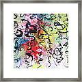 Abstract Calligraphy Framed Print