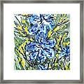 Digital Flower Painting Framed Print