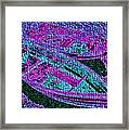 29a  Green Purple Rowboats Framed Print