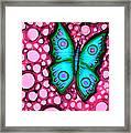 Blue Butterfly Framed Print by Brenda Higginson