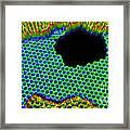 3-d Rendering, Graphene Hole Framed Print
