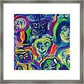 Faces Of Man Framed Print