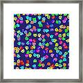 Game Monsters Seamless Generated Pattern Framed Print