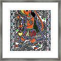 Radha Krishna Color Framed Print