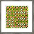 Tic Tac Toe Wooden Board Generated Seamless Texture Framed Print