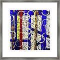 Blue Line Framed Print