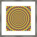 Psycho Hypno Floral Pattern Framed Print