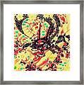 3d Color Dragon Framed Print