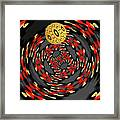 3d-concentric Planet  Framed Print