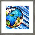 3d Render Of Planet Earth 10 Framed Print