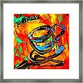 Coffee Cups Framed Print